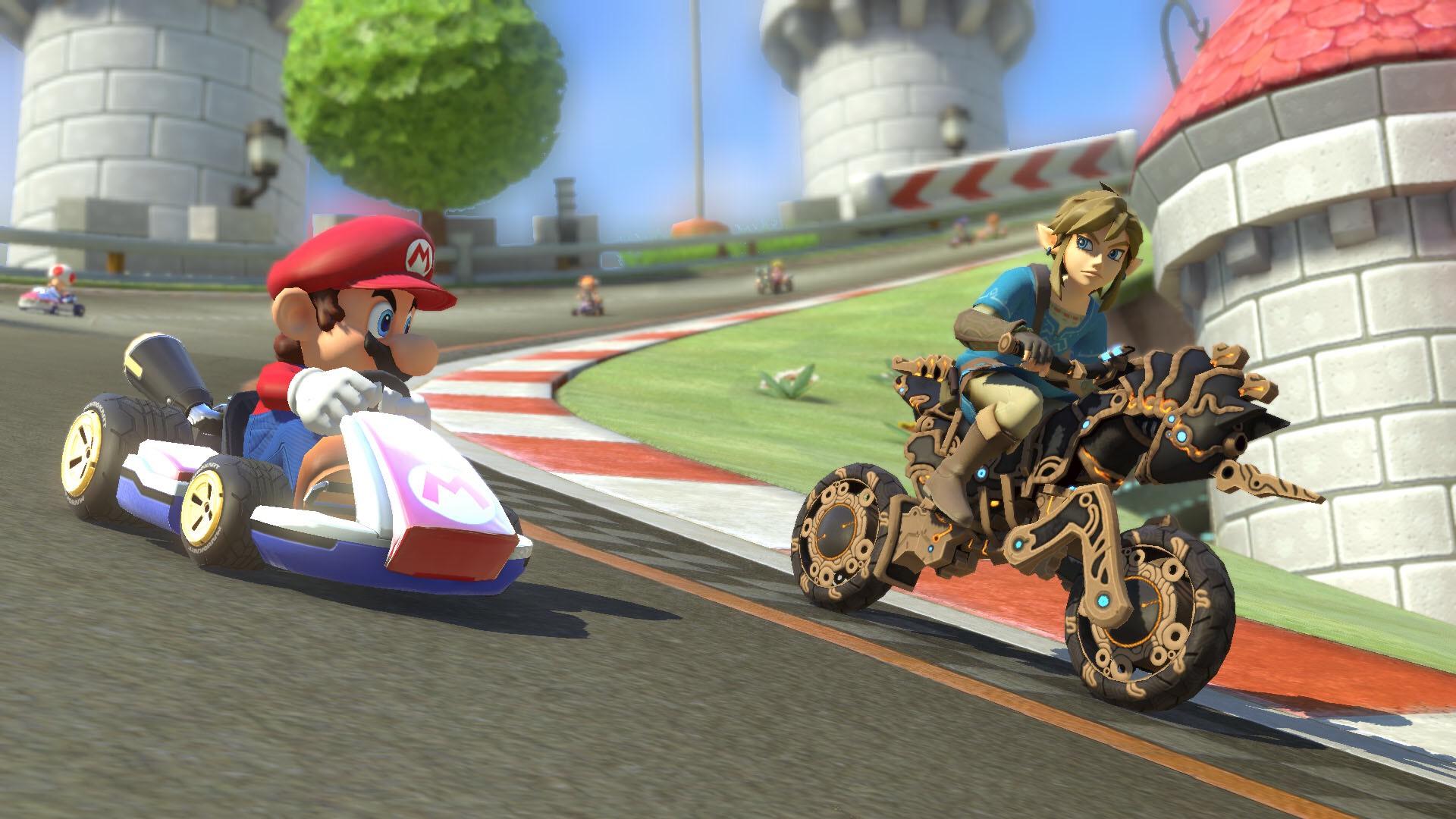 Free Mario Kart 8 Deluxe DLC (Nintendo Switch): BOTW Link plus BOTW kart items