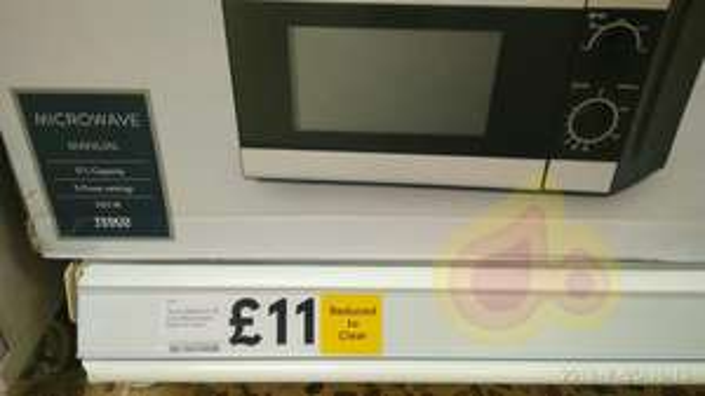 Microwave £11 @ Folkestone tesco