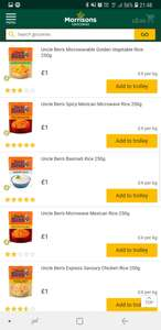 Any Uncle Ben's Rice for £1 @ Morrison's