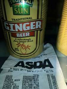 Asda instore Tropical Sun Ginger Beer cans 16p