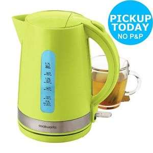 3kW 1.7L Cordless Illumination Jug Kettle - Green. From Argos on Ebay 12.99 With C&C or £16.94 Delivered (Please see Description for other colours)