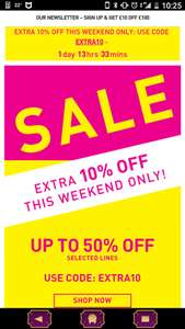 Up to 50% sale on top 10% extra w/c this weekend only @ Habitat