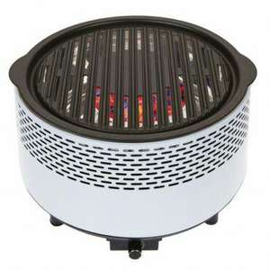Summit B&Co fan assisted alfresco charcoal grill - white £53.90 Inc shipping @ Towsure