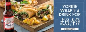 Delicious Yorkie Wrap & a Drink from £6.49 @ Toby Carvery