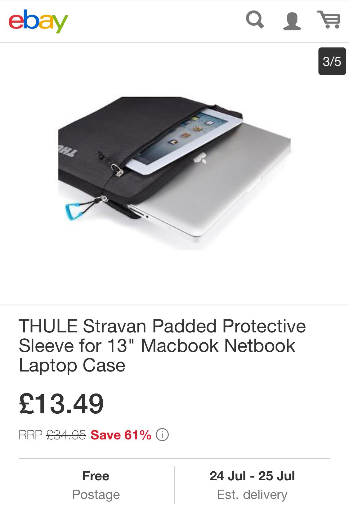 13 inch laptop sleeve £13.49 @ itstor / Ebay