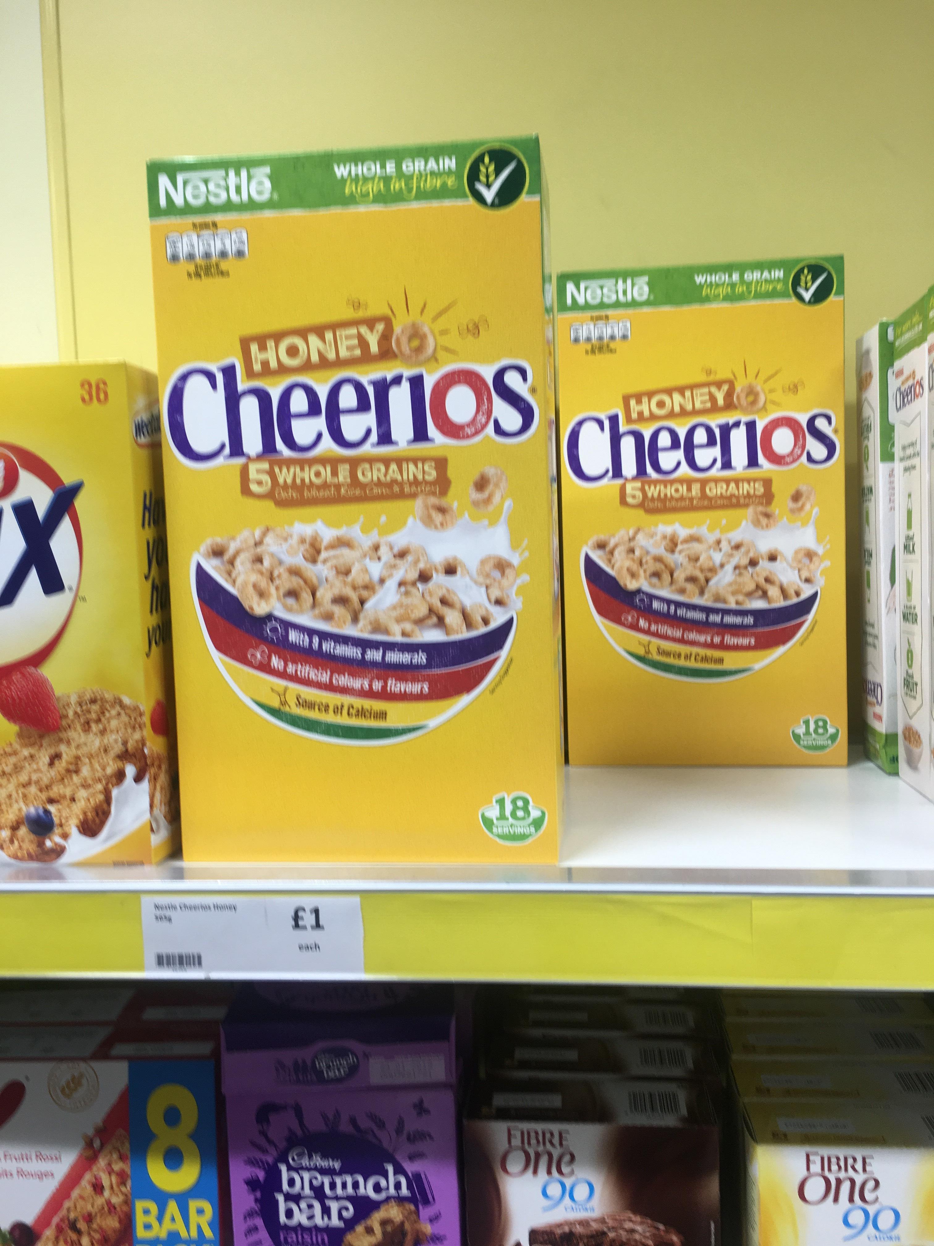 565g box of honey cheerios £1 Heron in store