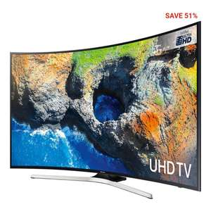 Samsung Curved LED Ultra HD 1400 PQI Smart TV (65inch - Black) at SportsPursuit for £783.99
