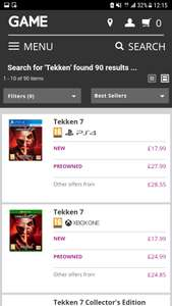 Tekken 7 PS4 and XBONE £17.99 @ Game