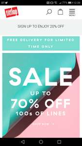 Fitflop up 70% sale + extra 20 % with code and free postage
