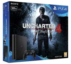 PS4 Slim 500GB Console with Uncharted 4 Bundle £239.99 @ Argos