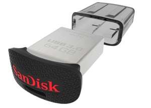 SanDisk Ultra Fit USB 3 Flash Drive 64GB, Up to 130MB/s read speed £12.99 @ picstop