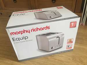 Morphy Richards Equip 2 Slice Toaster 222055 Brushed Stainless Steel Two Slice Toaster Brushed Toaster @ Asda £10