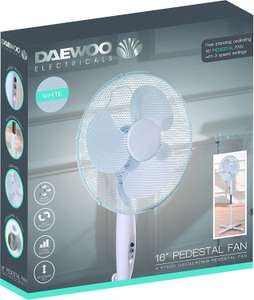 "Daewoo 16"" Pedestal Fan £14.99 Home Bargains (in stock again)"