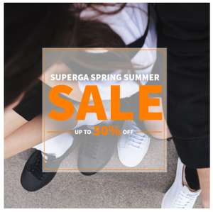 Superga Spring Summer Sale - Up to 50% off - Pumps Trainers Shoes + FREE Click & Collect