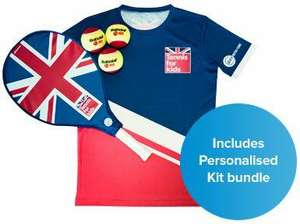6 tennis lessons for kids in summer holidays, get personalised t-shirt, racket and ball - £25 via Lawn Tennis Association