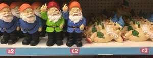 Naughty/cheeky gnomes £2 each at poundland