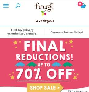 Frugi Baby / Children's clothing Sale up to  70% off eg Giggling Gift Set in Blue or Pink was £36 now £10.80