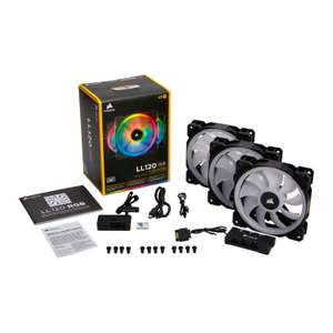 Corsair LL120 RGB 120mm Dual Light Loop 3 Fan + Lighting Node PRO Pack £64.98 Ebuyer