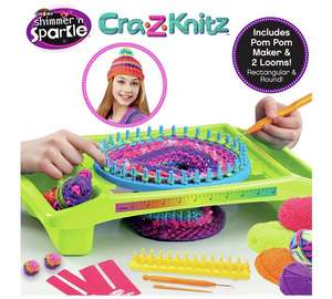 Shimmer & Sparkle Cra Z Knitz Ultimate Neon Knitting Station was £29.99, then £19.99 now £7.99 C+C @ Argos