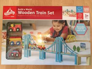 Carousel - Build A World Wooden Train Set 100 pieces £10 instore @ Tesco Coventry