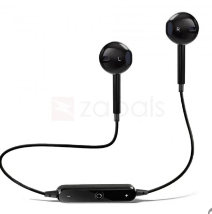 S6 Wireless Sweat resistant Bluetooth Earbuds - 6 month warranty £2.26 Zapals