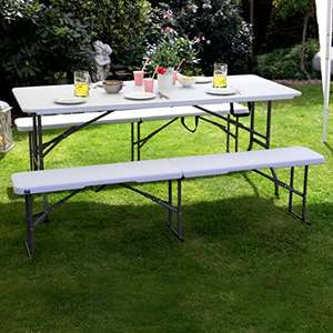 Vanage Folding Table and Bench Set £49.99 @ Amazon (All day deal)