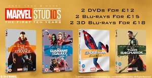Marvel First Ten Years sale - 2 for £12/£15/£18 DVD/BD/3D BD at Zoom