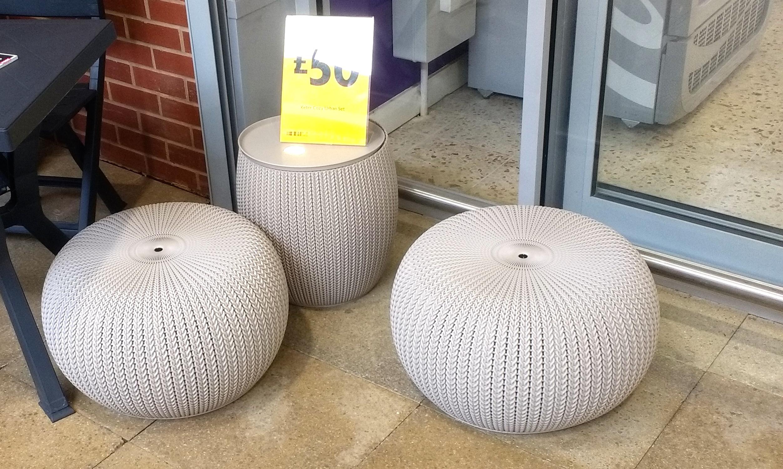 Keter Three Piece Cozy Urban Set £50 / 42 Litre Moda Bin £10 @ Morrisons instore