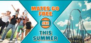 2 days entry to Thorpe Park plus overnight stay in hotel for 2 people various summer dates now £64 / £32pp @ Thorpe Park