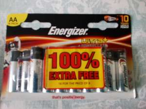 Energiser Ultra+ AA batteries 16 for the price of 8 at Savers for £2.69
