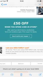 £50 off £300 minimum spend @ IKEA - Account Specific - CHECK EMAIL