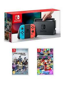 Nintendo Switch Console with Mario Kart 8 and Fire Emblem Warriors - free click and collect £329.99 from very