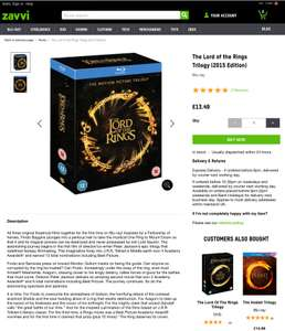 The Lord of the Rings Trilogy (2015 Edition) - £13.49 @ Zavvi