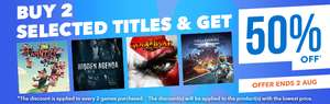 PlayStation Store Discounts 23/07 at PSN Store Asia *Justice League VR £3.45 Werewolves With £3.81 NBA 2KVR £3.95 Thumper £2.77 Batman Arkham VR £3.69 Resident Evil 7 £14.36 Dying Reborn Bundle £5.25 PLUS Buy 2 Get 50% off on selected titles