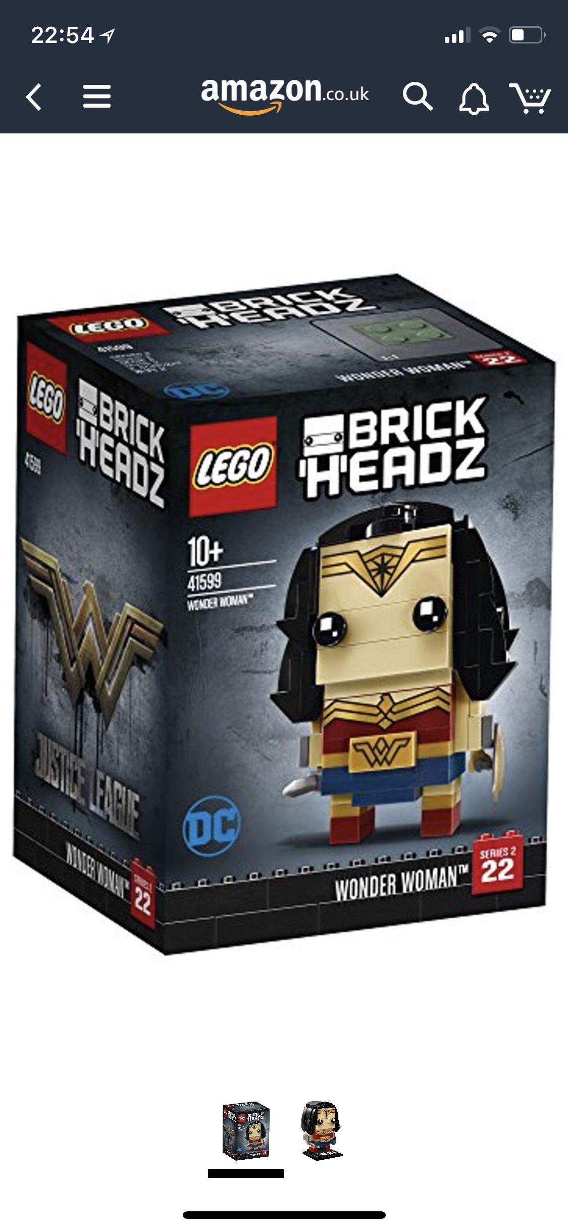 LEGO UK 41599 BrickHeadz Wonder Woman Popular @ Amazon - £3 Prime / £7.95 non-Prime