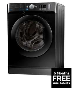 Indesit Innex BWA81683XK 8kg Load, 1600 Spin Washing Machine - Black A+++ Energy Rating + 6 months free Ariel Tablets £239.99 VERY