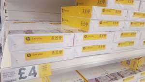 HP Everyday Paper 75gsm 500 sheets. £4 for 1 pack, £6 for 2 or £8 for 3 @ Tesco Instore
