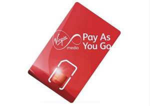 Virgin payg sim with £10 Credit for £5 @ Virgin Mobile