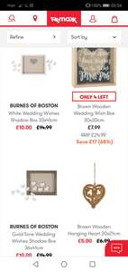 TK Maxx Wedding Accessories from £4 - (Free click and collect over £50)