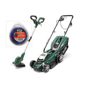 Webb WEER33 33cm Electric Rotary Lawnmower & WEELT450 Electric 25cm Line Trimmer & Nylon Cord £84.97 plus delivery with code @ Ideal world