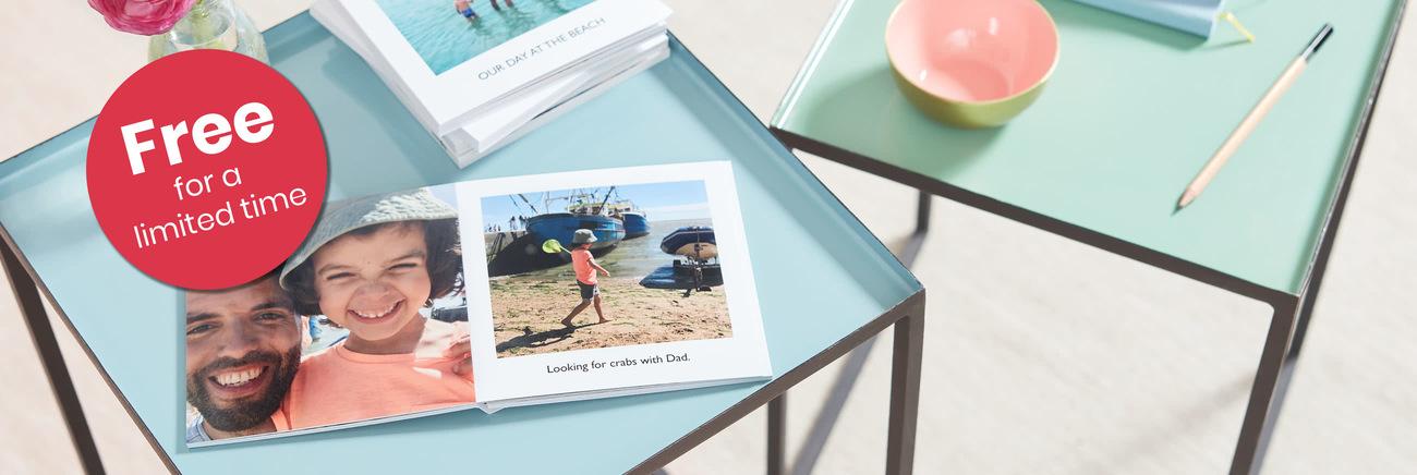 """Free"" Little Moments photobook from Photobox, £3 postage."