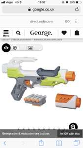 Nerf Modulus Ionfire reduced to clear £6.76 Asda instore.