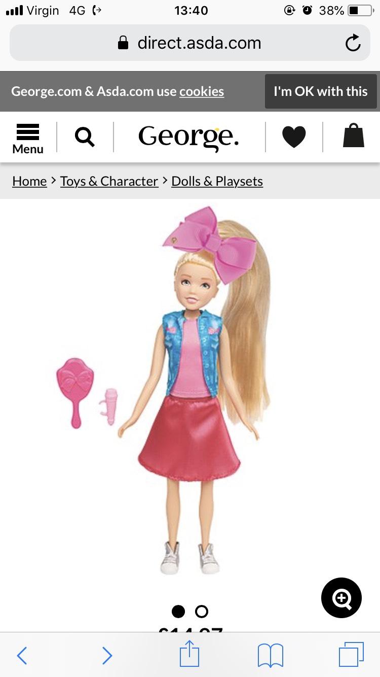 Jojo doll reduced £1.76 Asda instore.