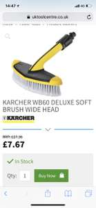 Karcher WB60 car brush £12.67 inc p&p @ UK Tool Centre