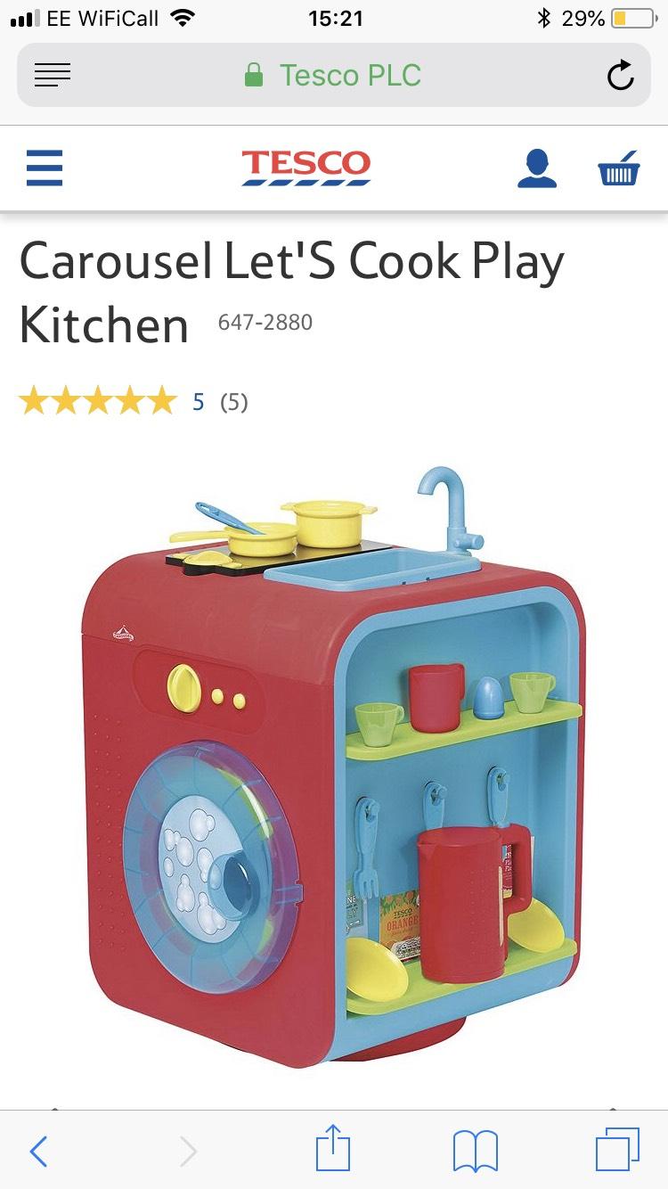 Tesco Carousel Lets Cook Kitchen - £20 instore (Culverhouse)