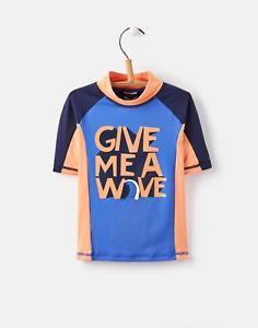Joules eBay Outlet Chase Boys Rash Short Sleeved Vest 3-12 Yr in Polyamide Mix in Orange £6.95 - £8.95