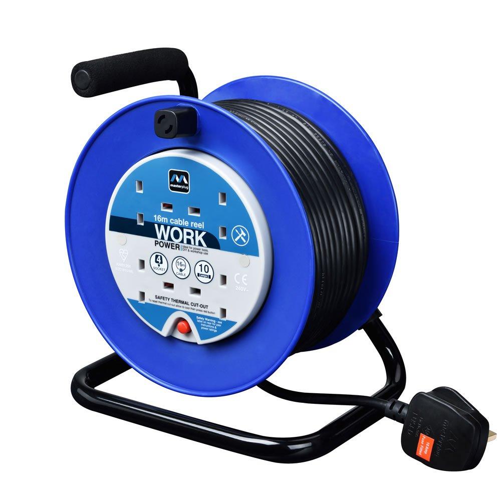 Masterplug Cable Reel 10amp 4 Gang 16m £11 (C+C) £15 (Delivered) @ Wilko