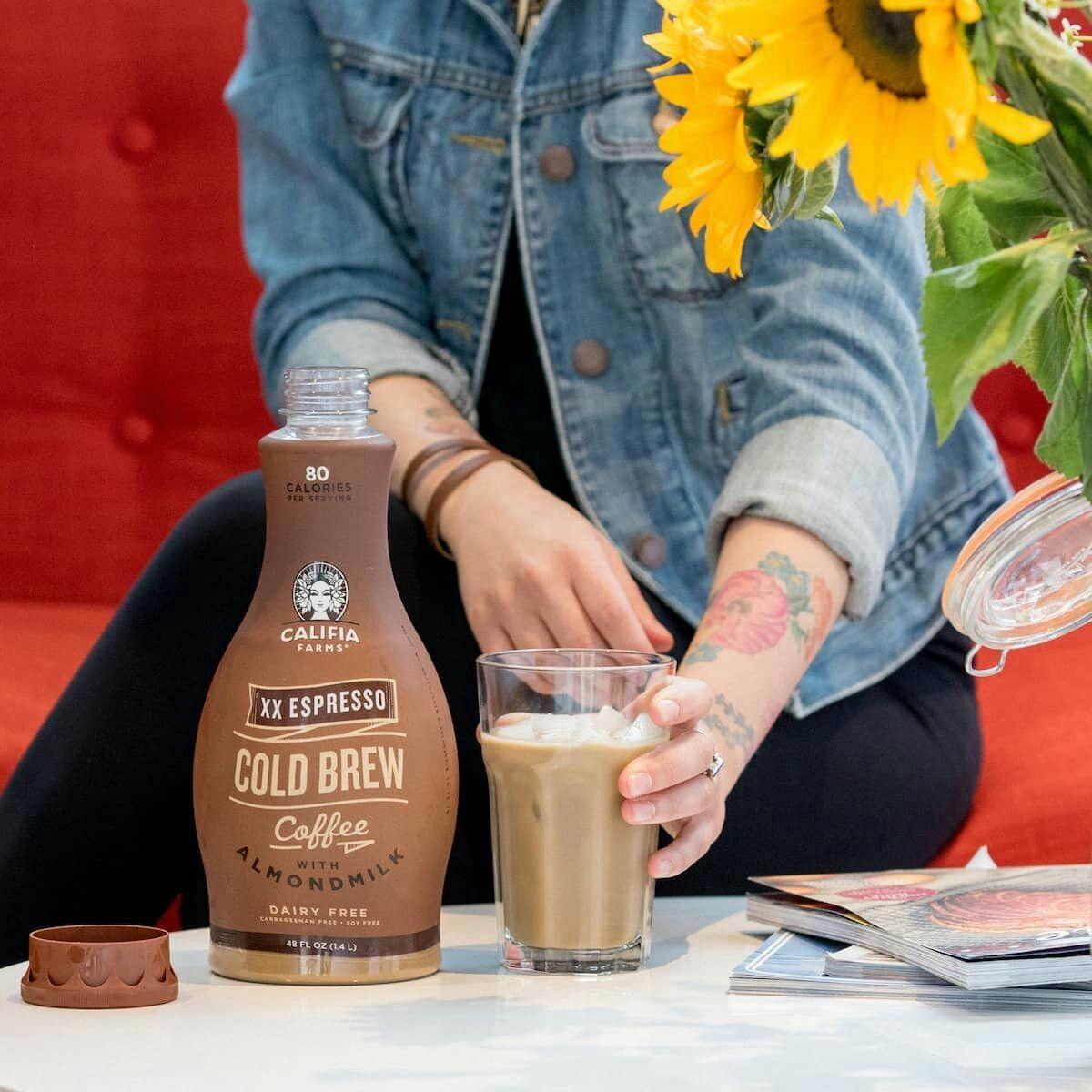 Califia Farms XX Espresso Cold Brew coffee with Almond milk 750ml £1 Fultons Foods