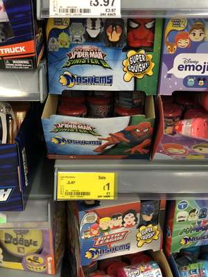 Spiderman mashems £1 asda instore bexleyheath