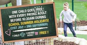 One Child goes Free with every paying adult (£8pp) @ Dino Falls Crazy Golf Manchester before 10.30